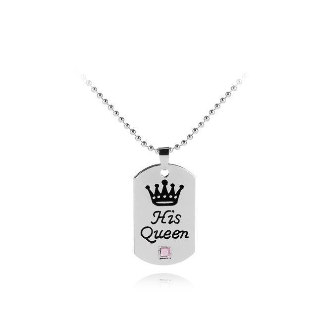 loomrack His Queen Her King Tag Necklaces Necklace Style 2