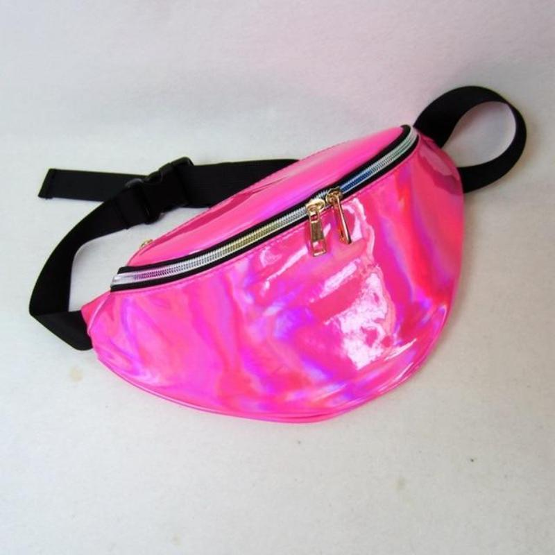 loomrack Holographic Fanny Pack Waist Bag Red