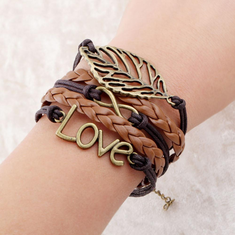 loomrack Infinity Leather Charm Bracelet - Over 15 Styles! Charm Bracelets Chocolate Love