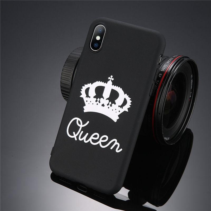 loomrack King Queen Crown iPhone Case - For iPhone  X / SE / 5C / 5S / 6 / 6 Plus / 6S / 7 / 8 Plus Phone Cases