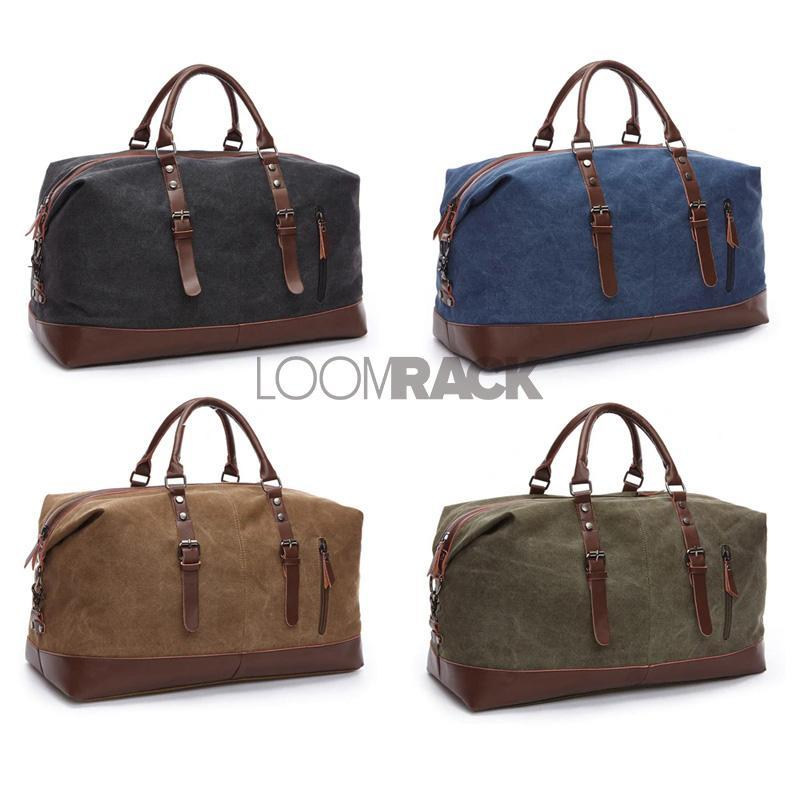 loomrack Large Canvas Duffle Bag Top-Handle Bags