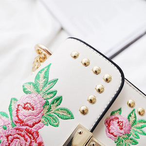 loomrack Leather Embroidered Crossbody Bag Shoulder Bags
