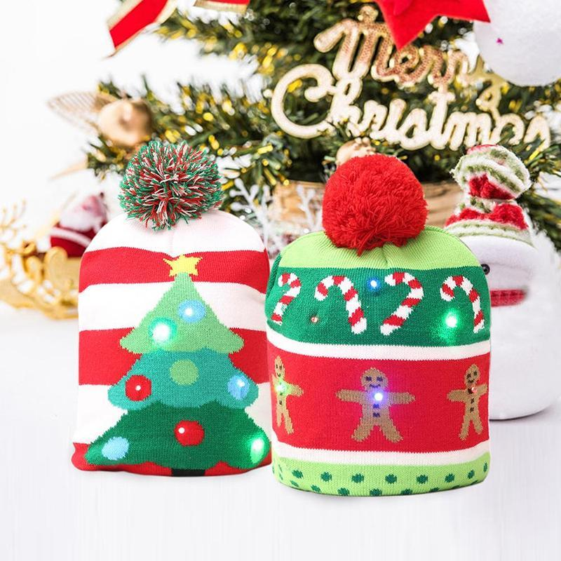 loomrack LED Christmas Hat Beanie Christmas Accessories