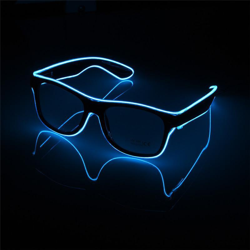 loomrack LED Luminous Party Sunglasses Glow Party Supplies Blue