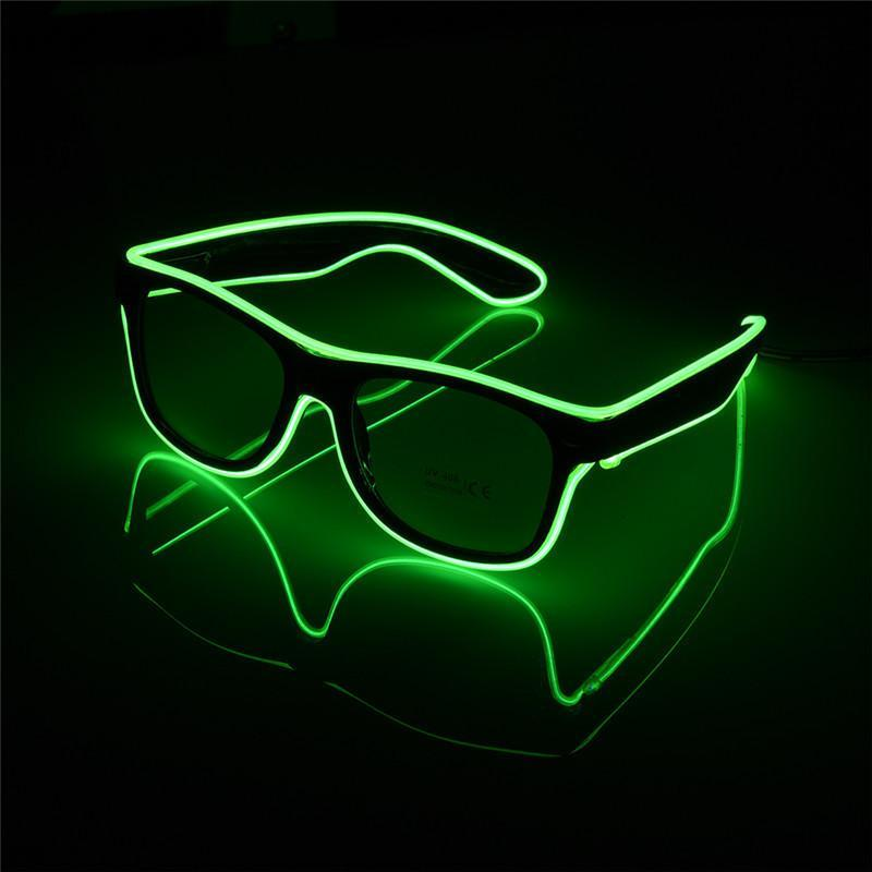 loomrack LED Luminous Party Sunglasses Glow Party Supplies Green