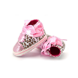 loomrack Leopard Sequin Infant Girl Shoes Baby Accessories