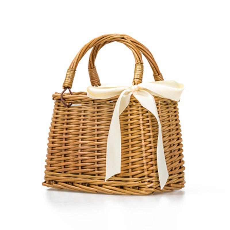 loomrack Little Basket Bamboo Bag Shoulder Bags