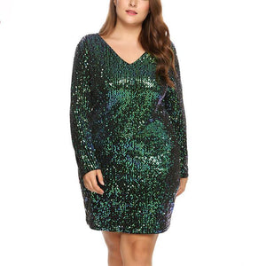 loomrack Long Sleeve Plus Size Sequin Dress Girl's Dresses