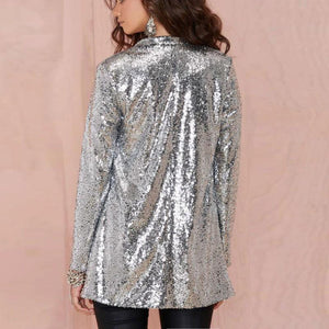 loomrack Long Sleeve Sequin Blazer Jackets