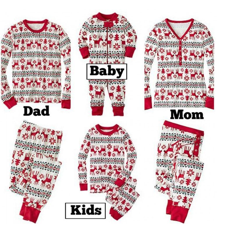 loomrack Matching Family Christmas Pajamas - Reindeer Set for Couples, Families or Kids Matching Outfits