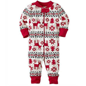 loomrack Matching Family Christmas Pajamas - Reindeer Set for Couples, Families or Kids Matching Outfits Baby / 3M
