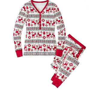 loomrack Matching Family Christmas Pajamas - Reindeer Set for Couples, Families or Kids Matching Outfits Mom / S