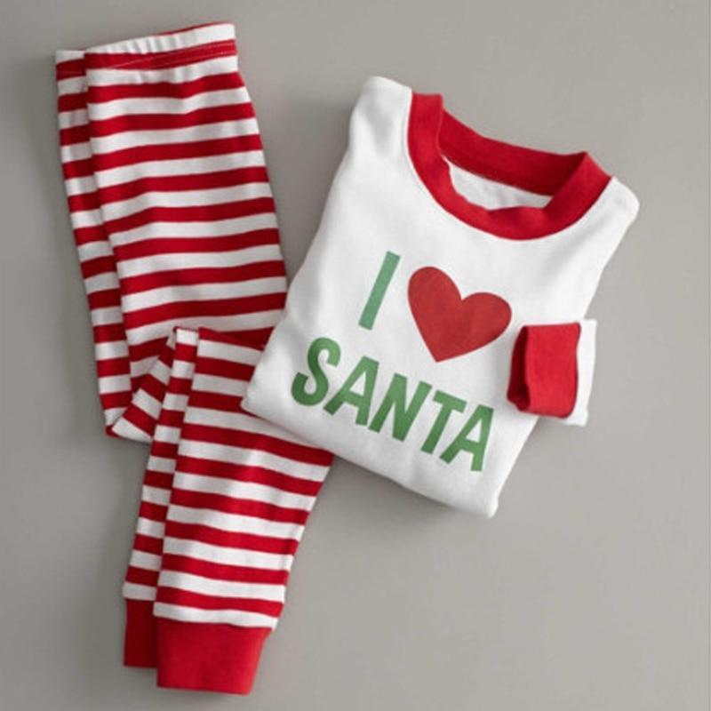 loomrack Matching Family Christmas Pajamas - Santa Love Set for Families, Kids or Couples Matching Outfits