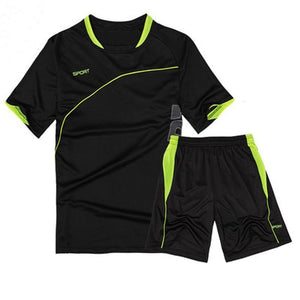 loomrack Men's 2-Piece Dry Fit Soccer Set Running Sets