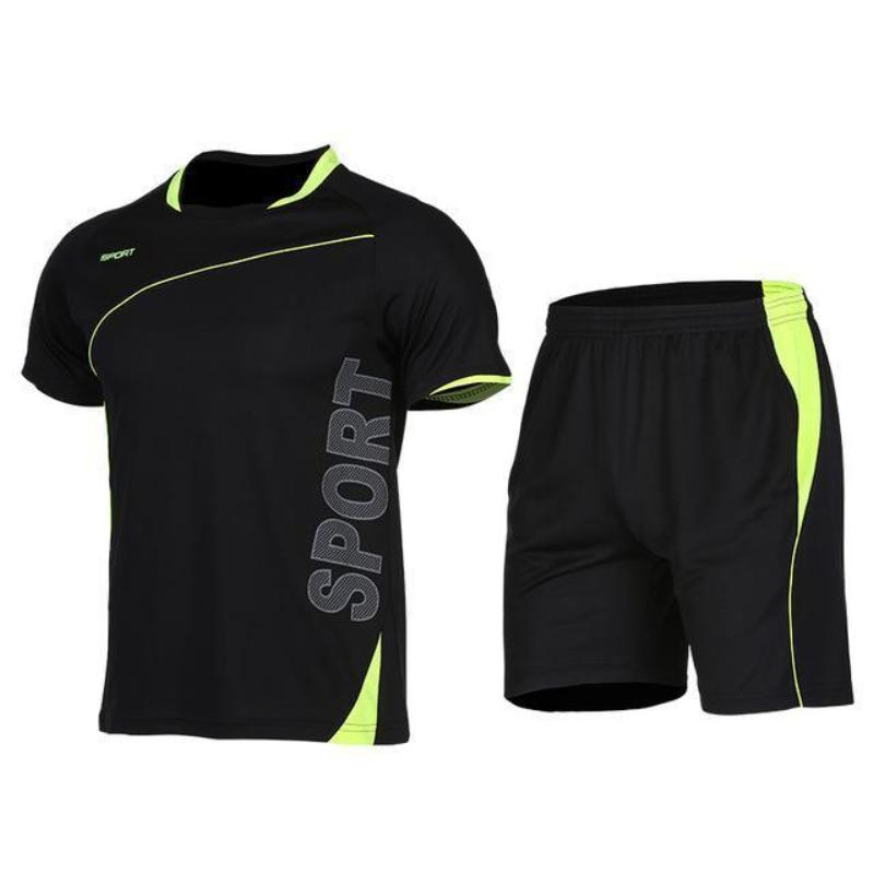 loomrack Men's 2-Piece Dry Fit Soccer Set Running Sets XLF018 / S