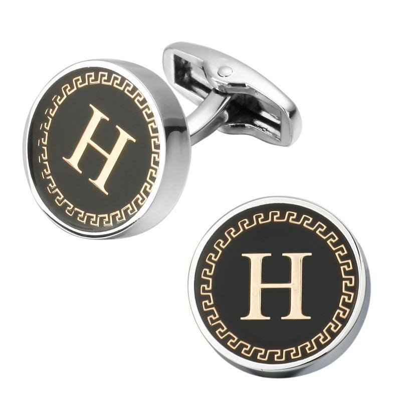 loomrack Men's Lettered Cufflinks Tie Clips & Cufflinks H