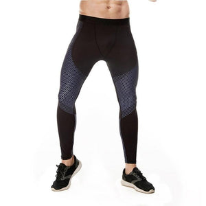 loomrack Men's Optical Design Reflective Compression Leggings Running Tights Dark Gray / S