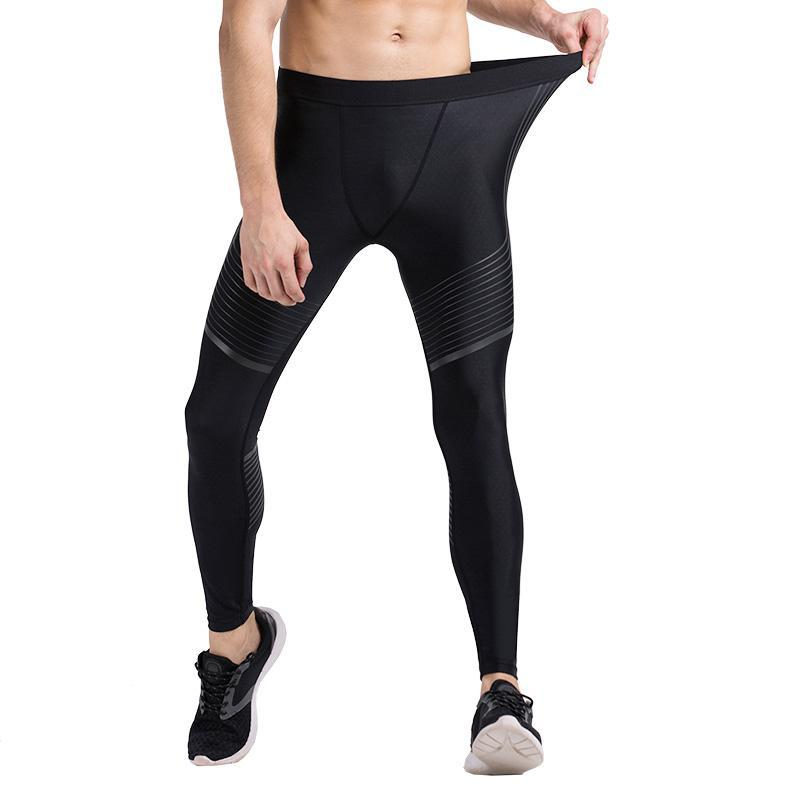 loomrack Men's Spiral Compression Reflective Leggings Running Tights