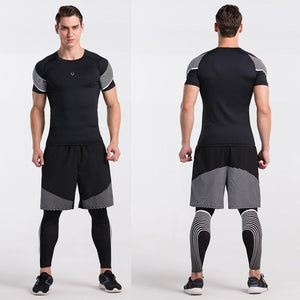 loomrack Men's Spiral Reflective Short Sleeve Compression Top T-Shirts
