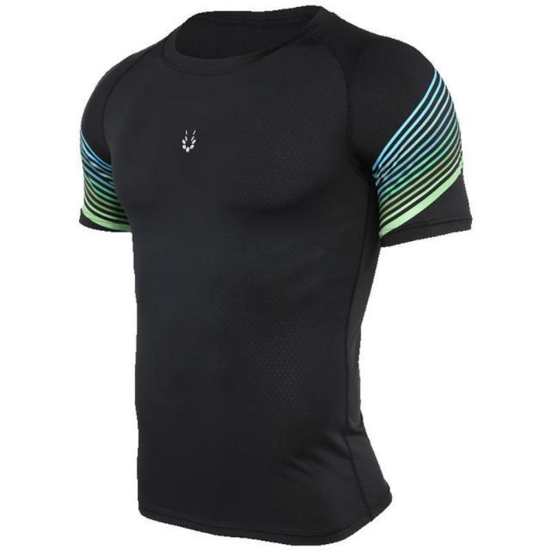 loomrack Men's Spiral Reflective Short Sleeve Compression Top T-Shirts 72602 / S