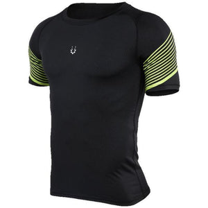 loomrack Men's Spiral Reflective Short Sleeve Compression Top T-Shirts 72605 / S