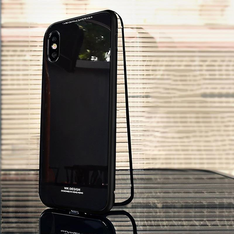 loomrack Metal Frame + Tempered Glass Magnetic Phone Case Fitted Cases Full Black / for iphone X