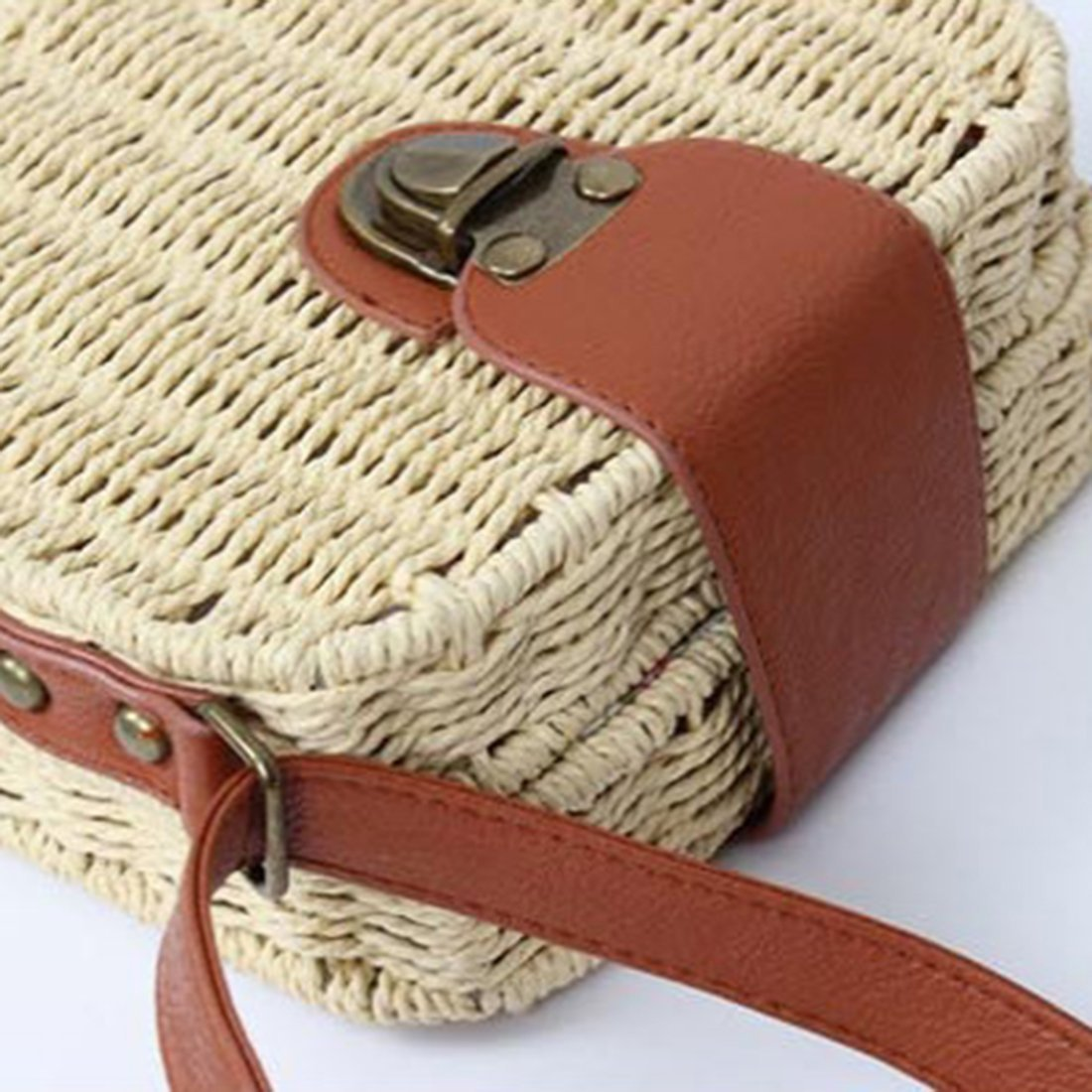 loomrack Mini Straw Messenger Bag Shoulder Bags