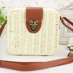 loomrack Mini Straw Messenger Bag Shoulder Bags White