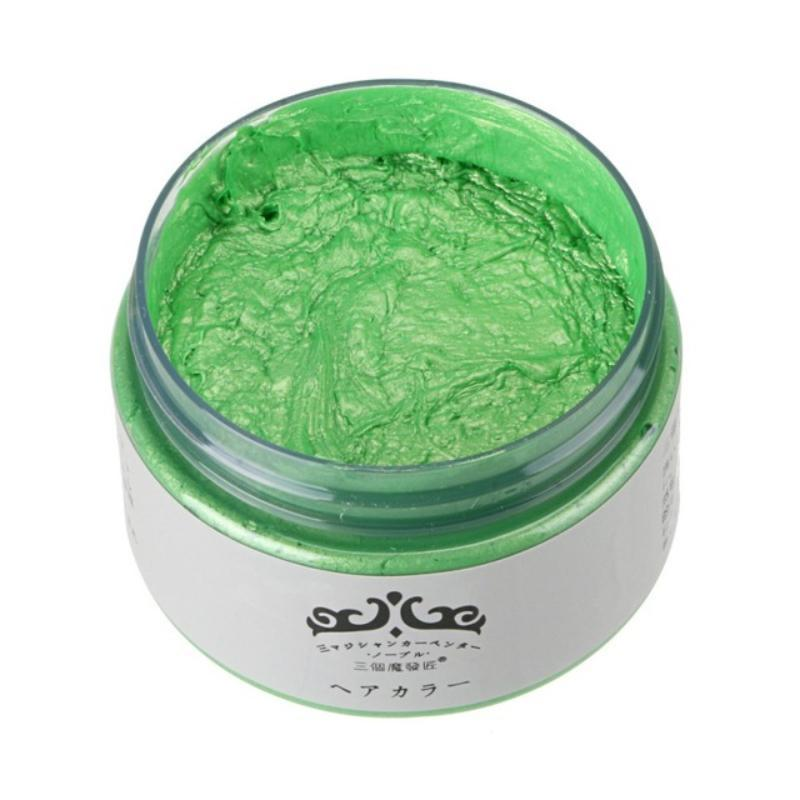 loomrack Mofajang One-Time Hair Coloring Wax Hair Color Green