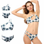 loomrack Mother Daughter Matching Swimsuits - Assorted Designs Family Matching Outfits Sky Blue / Mom S