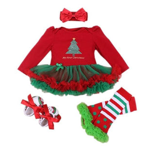 loomrack My First Christmas Baby Girl Outfit Baby Clothes as photo17 / 3M