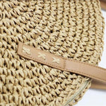 loomrack Natural Hand-Woven Straw Tote Bag Top-Handle Bags
