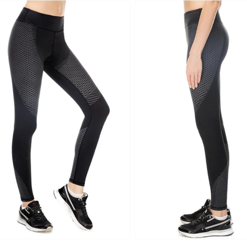 loomrack Optical Design Reflective Compression Leggings Yoga Pants