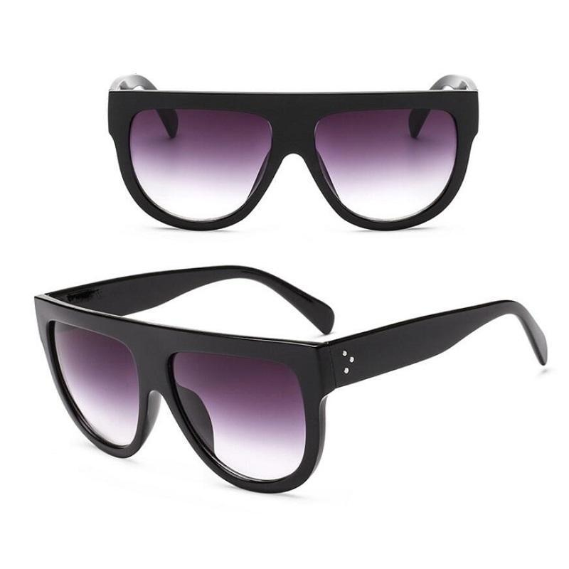loomrack Oversized Glamrock Shades Sunglasses Black Gray