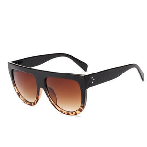 loomrack Oversized Glamrock Shades Sunglasses Black Leopard