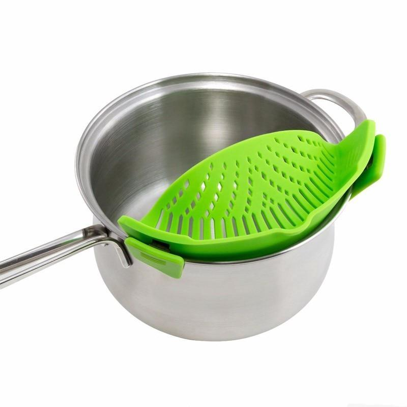 loomrack Perfect Fit Silicone Pot Bowl Clip-On Strainer Home Accessories