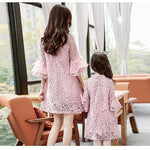 loomrack Perfect Little Lady Mother-Daughter Lace Matching Dresses Family Matching Outfits