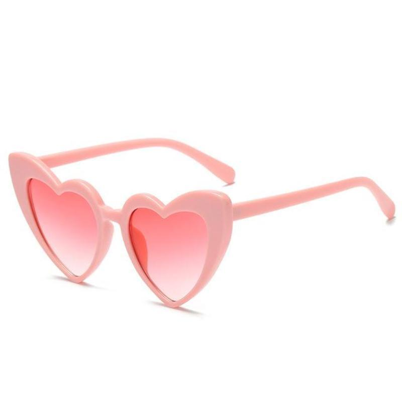 loomrack Pointed Cat Eye Heart Sunglasses Sunglasses pink frame pink
