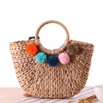 loomrack Rattan Tote Bag Top-Handle Bags
