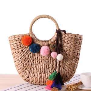 loomrack Rattan Tote Bag Top-Handle Bags B