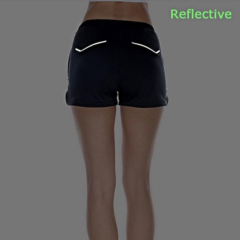 loomrack Reflective Mini Athletic Shorts Yoga Shorts