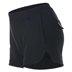 loomrack Reflective Mini Athletic Shorts Yoga Shorts FBF710601 Black / S