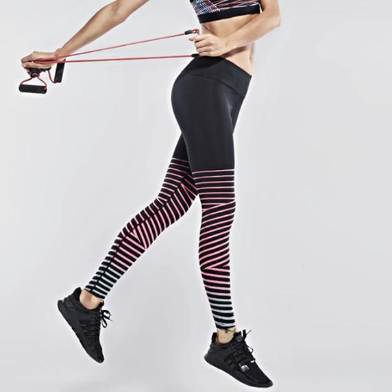 loomrack Reflective Whimsical Stripe Leggings Leggings
