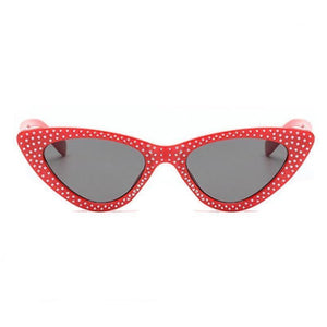 loomrack Retro Cat Eye Pointed Rhinestone Sunglasses Sunglasses