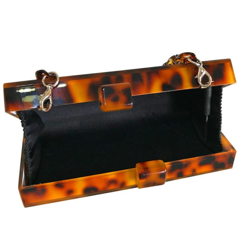 loomrack Retro Leopard Acrylic Clutch Clutches