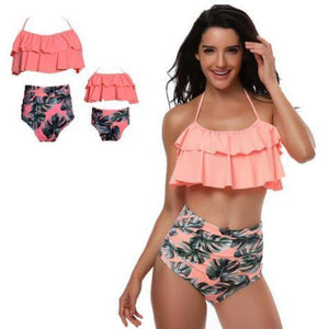 loomrack Retro Mommy and Me Matching Swimsuits - Assorted Styles Family Matching Outfits Pink / Mom S