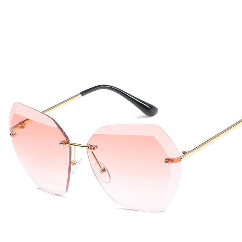 loomrack Retro Rimless Dimensional Sunglasses Sunglasses