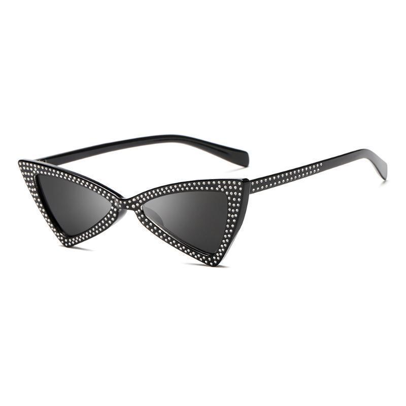 loomrack Rhinestone Triangle Cat Eye Sunglasses Sunglasses