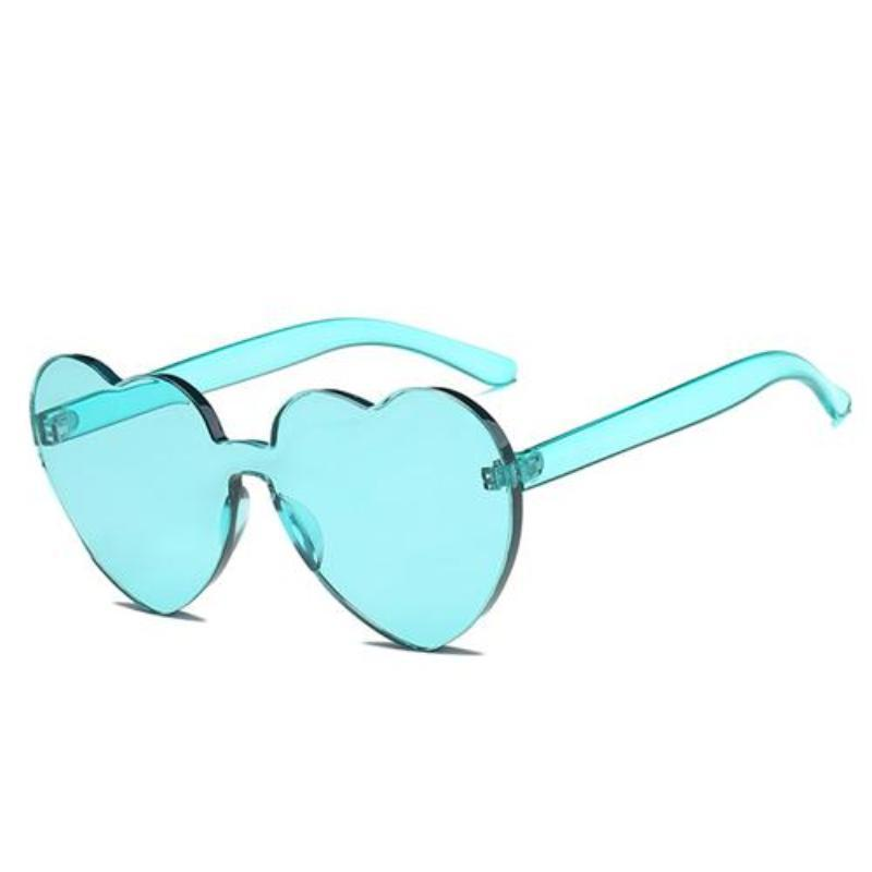 loomrack Rimless Heart Shaped Sunglasses Sunglasses Ice Blue