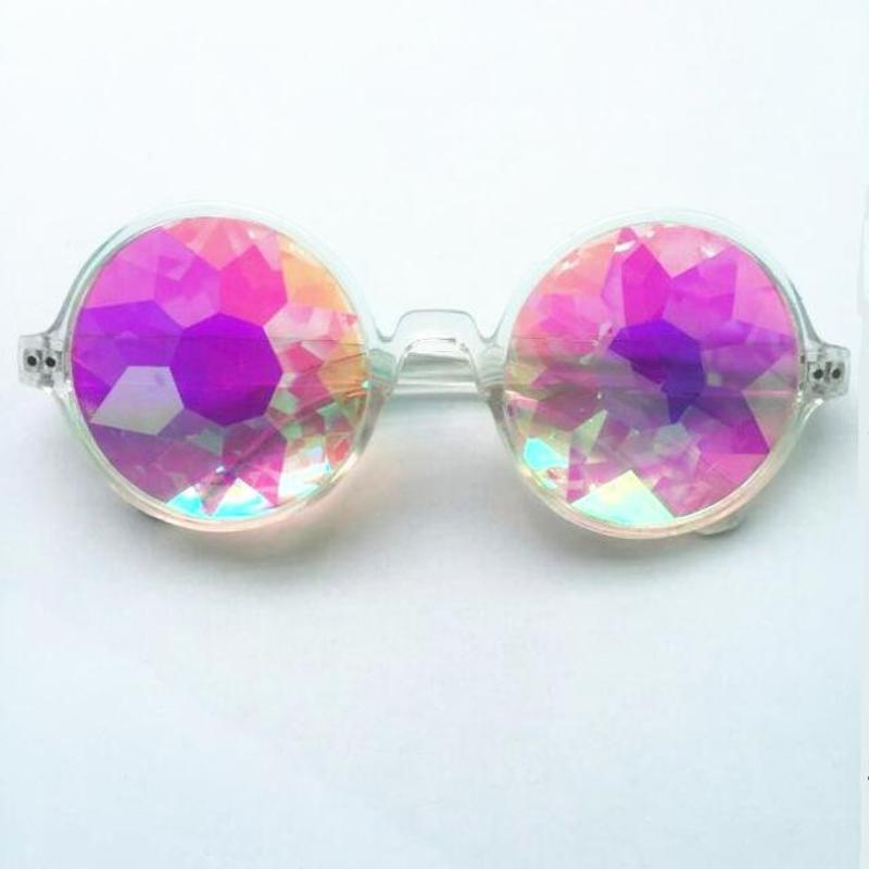 loomrack Round Kaleidoscope Sunglasses Sunglasses Clear